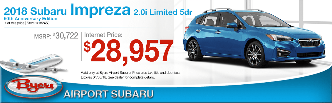 2018 Subaru Impreza 2.0i Limited 5dr Special Purchase Savings in Columbus, OH