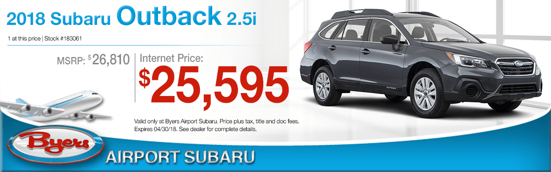 2018 Subaru Outback 2.5 Low Purchase Price Offers in Columbus, OH