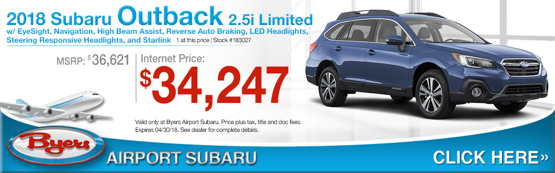 2018 Subaru Outback 2.5i Limited Low Purchase Price Offers in Columbus, OH