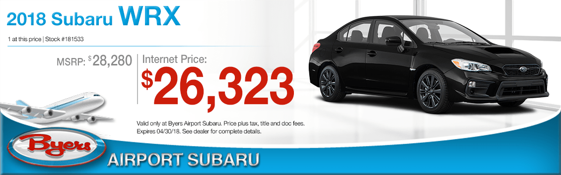 2018 Subaru WRX Special Purchase Offer in Columbus, OH