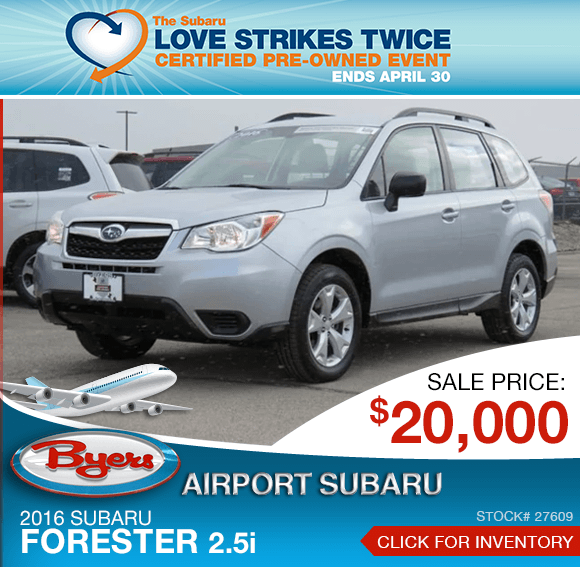2016 Subaru Forester 2.5i certified pre-owned special in Columbus, OH