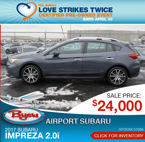 2017 Subaru Impreza 2.0i certified pre-owned special in Columbus, OH