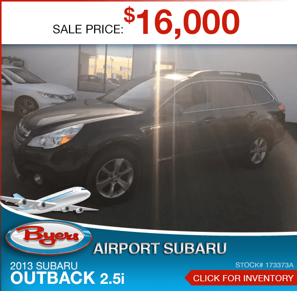 2013 Subaru Outback 2.5i pre-owned special savings this month in Columbus, OH