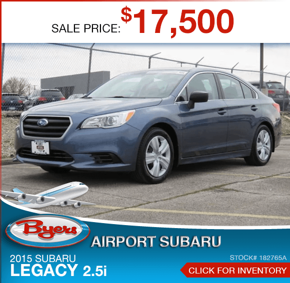 2015 Subaru Certified Legacy 2.5i pre-owned special savings this month in Columbus, OH