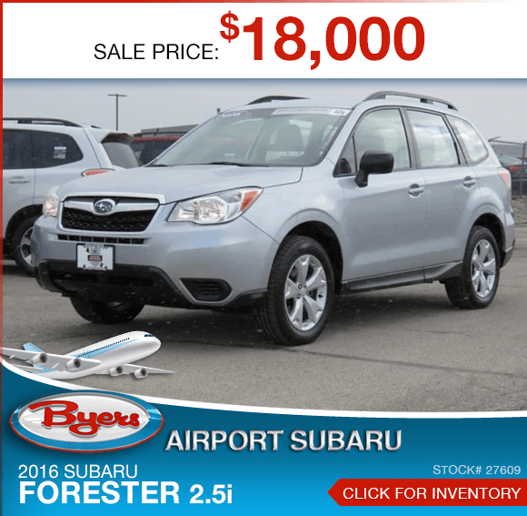 2016 Subaru Forester 2.5i pre-owned special savings this month in Columbus, OH