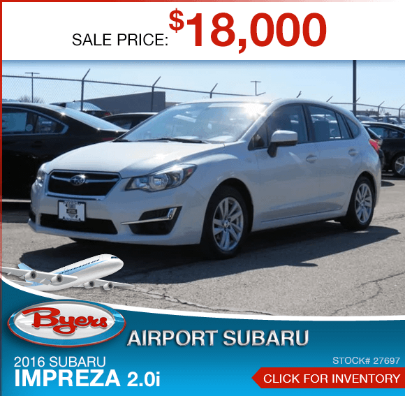2016 Subaru Impreza 2.0i certified pre-owned special savings this month in Columbus, OH