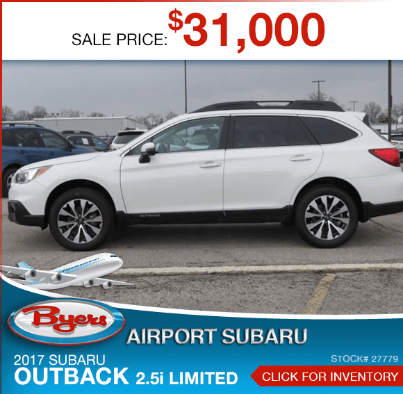 2017 Subaru Outback 2.5i Limited certified pre-owned special savings this month in Columbus, OH