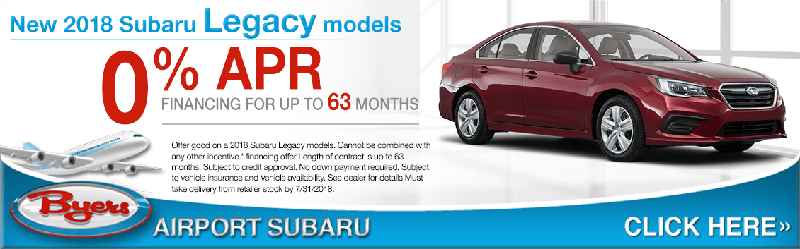 2018 Subaru Legacy Special 0% Financing Offer in Columbus, OH