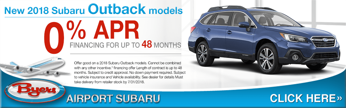 2018 Subaru Outback 0% Special Financing Offer in Columbus, OH