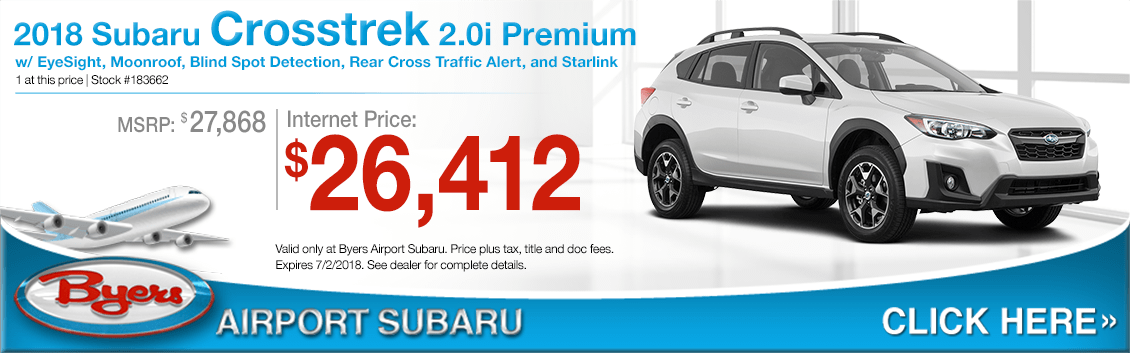 2018 Subaru Crosstrek 2.0i Premium Low Purchase Price Offers in Columbus, OH