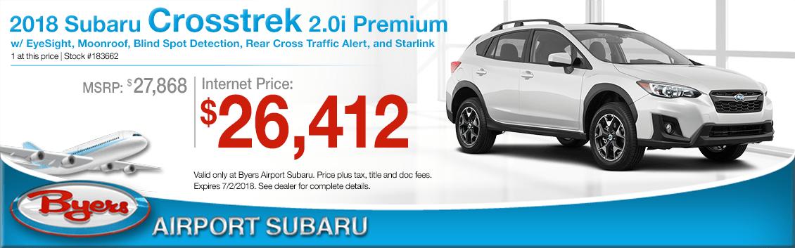 2018 Subaru Crosstrek 2.0i Premium Low Purchase Price Offers in Columbus, OH