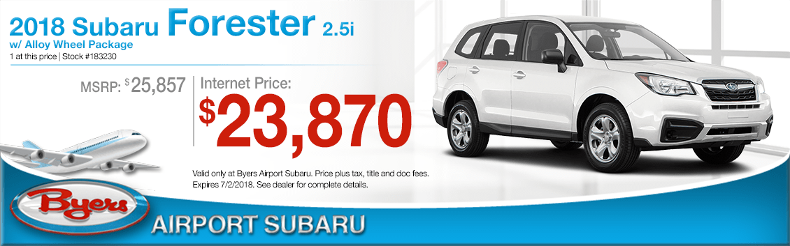 2018 Subaru Forester 2.5i with Alloy Wheel Package Low Purchase Price Offers in Columbus, OH