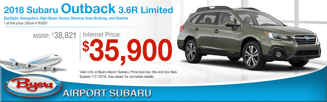 2018 Subaru Outback 3.6R Limited Low Purchase Price Offers in Columbus, OH