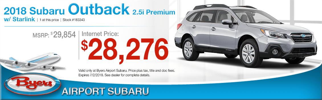2018 Subaru Outback 2.5i Premium with Starlink Low Purchase Price Offers in Columbus, OH