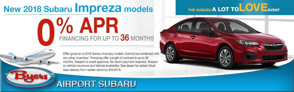 2018 Subaru Impreza Low Financing Offer in Columbus, OH