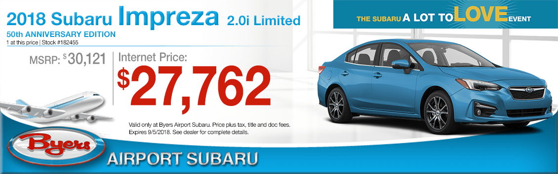 2018 Impreza 2.0i Limited 50th Anniversary Edition Sales Special in Columbus, OH