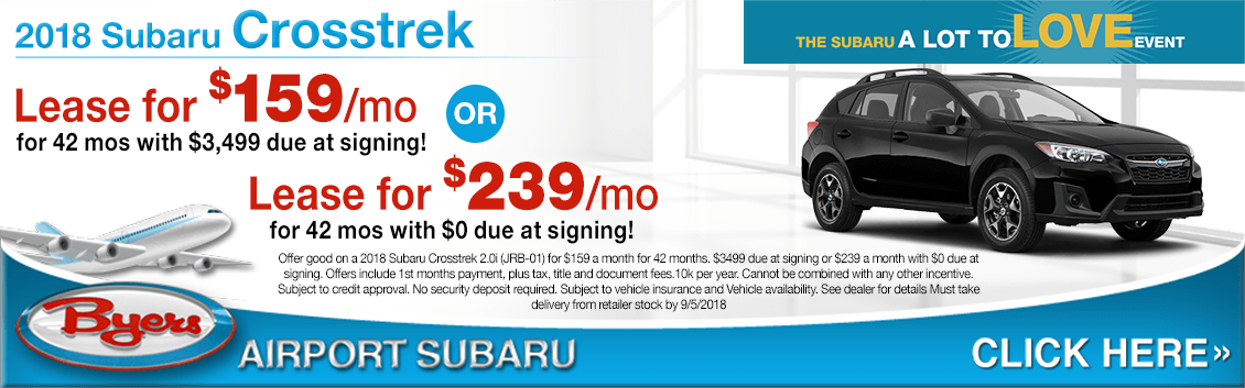 2018 Subaru Crosstrek Special Lease Savings Offers in Columbus, OH