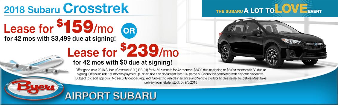 2018 Subaru Crosstrek Special Lease Savings Offers in Columbus, OH