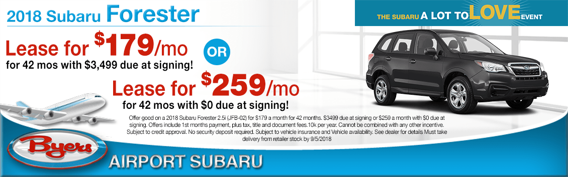 2018 Subaru Forester Special Lease Savings Offers in Columbus, OH