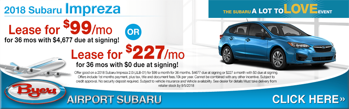 2018 Subaru Impreza Special Lease Offers in Columbus, OH