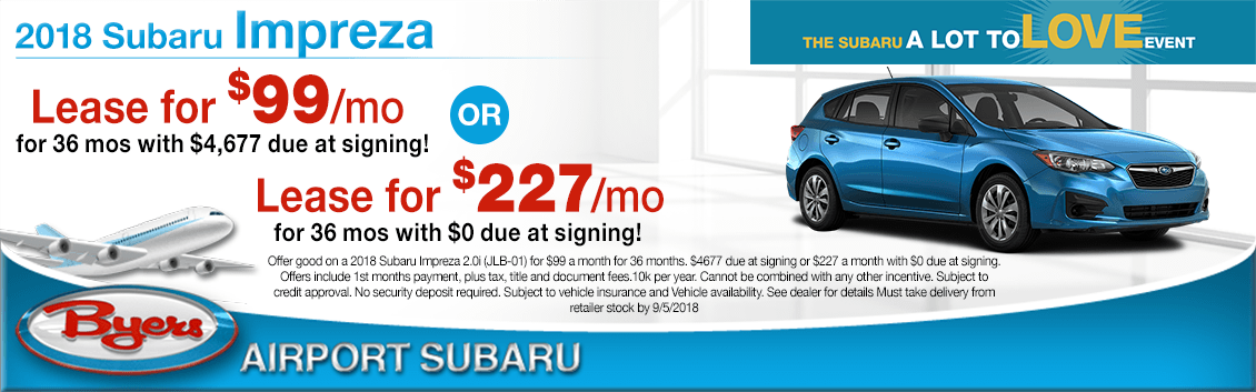 2018 Subaru Impreza Special Lease Offers in Columbus, OH