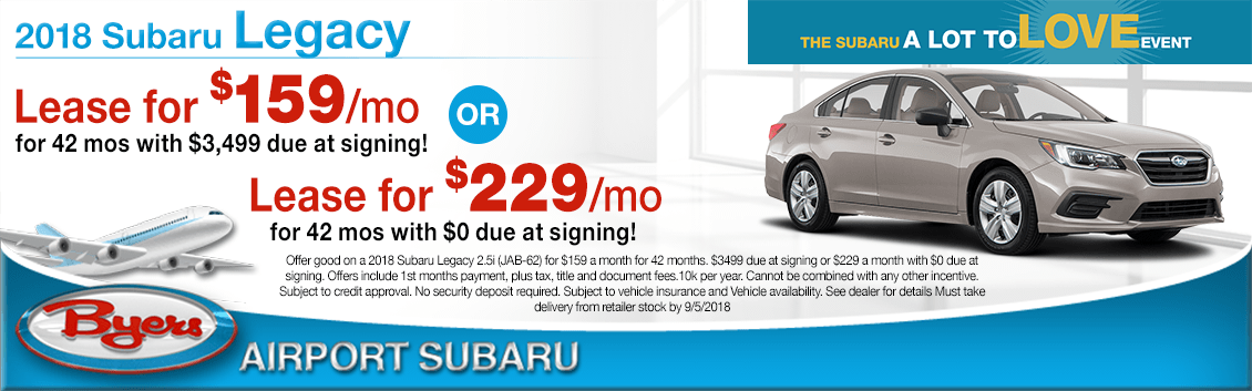 2018 Subaru Legacy Special Leasing Offers in Columbus, OH
