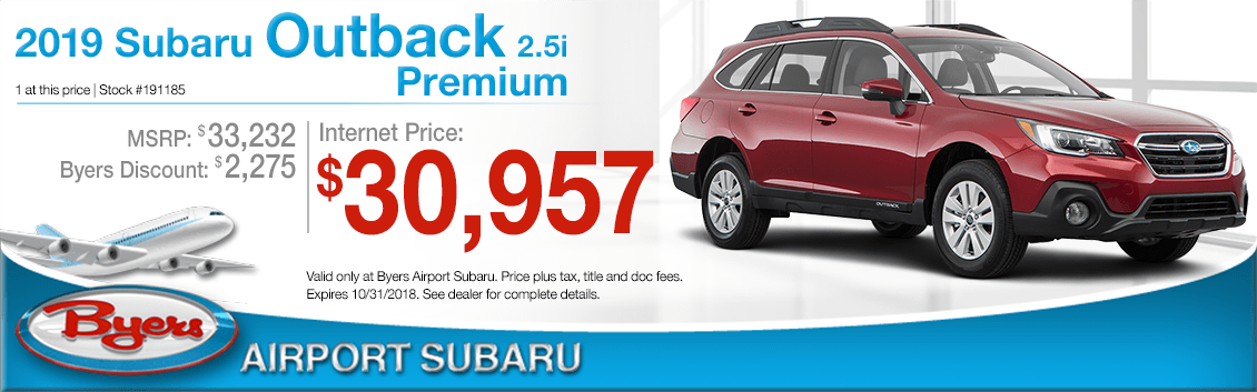 2019 Outback 2.5i Premium Sales Special at Byers Aiport Subaru in Columbus, OH