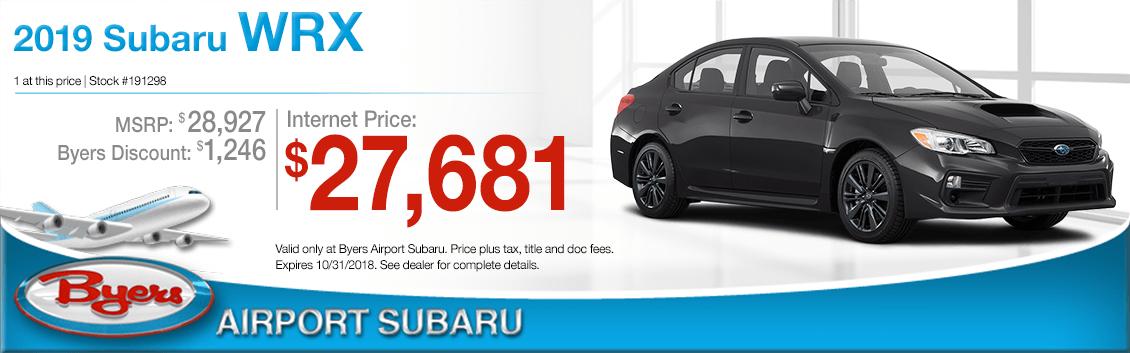 2019 Subaru WRX Sales Special in Columbus, OH