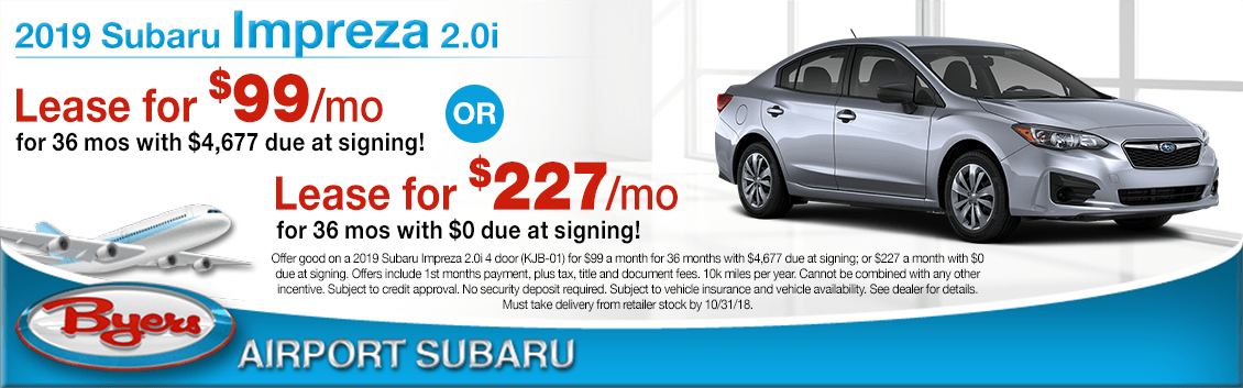 2019 Subaru Impreza 2.0i Lease Specials in Columbus, OH