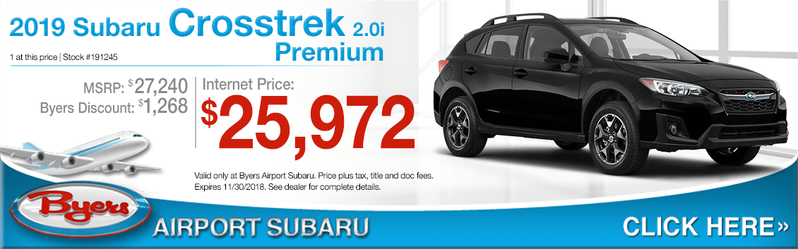 2019 Subaru Crosstrek 2.0i Premium Special Purchase Savings Offers in Columbus, OH