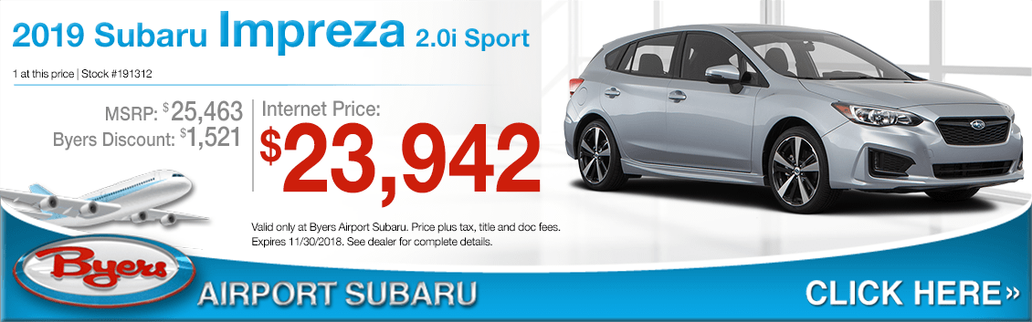 2019 Subaru Impreza 2.0i Sport Special Purchase Savings Offers in Columbus, OH
