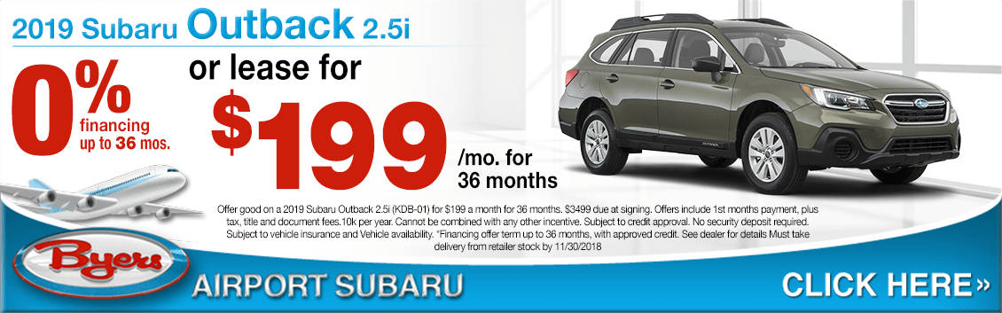 2019 Subaru Outback Lease Special Savings Offers in Columbus, OH