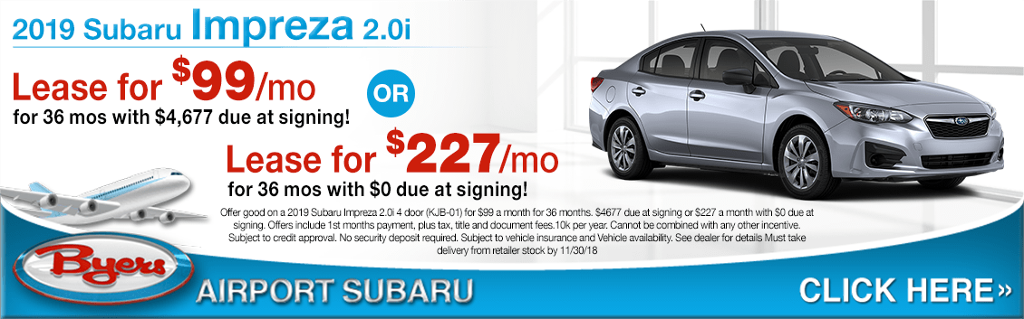 2019 Subaru Impreza 2.0i Lease Special Savings Offers in Columbus, OH