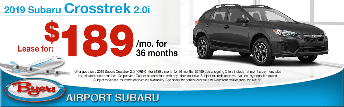 2019 Subaru Crosstrek 2.0i Lease Special in Columbus, OH