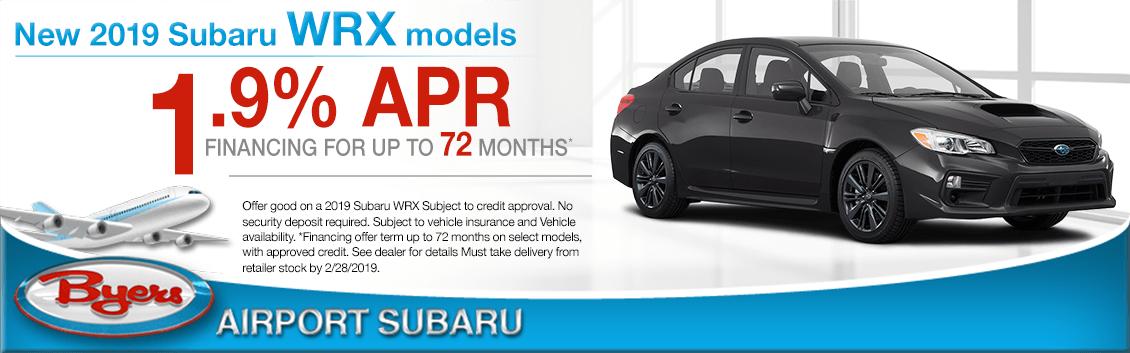 2019 Subaru WRX Model Low APR Special in Columbus, OH