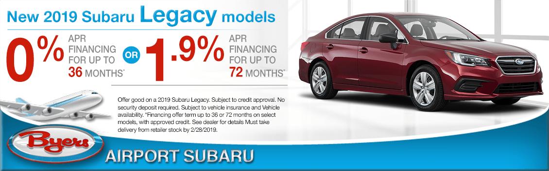 2019 Subaru Legacy Model Finance Special in Columbus, OH
