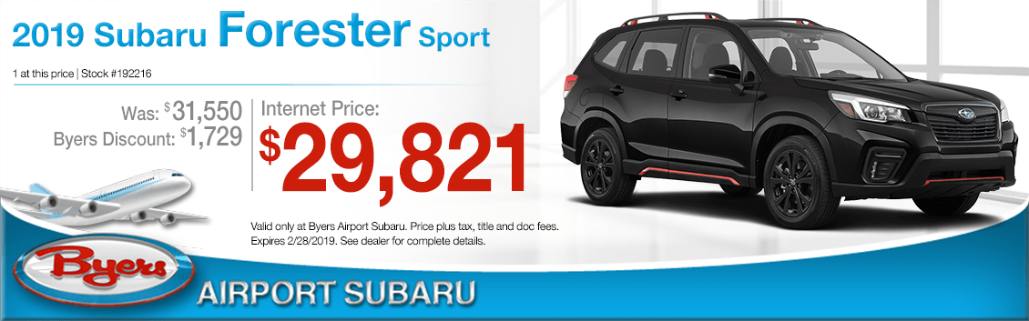 2019 Subaru Forester Sport Purchase Special in Columbus, OH