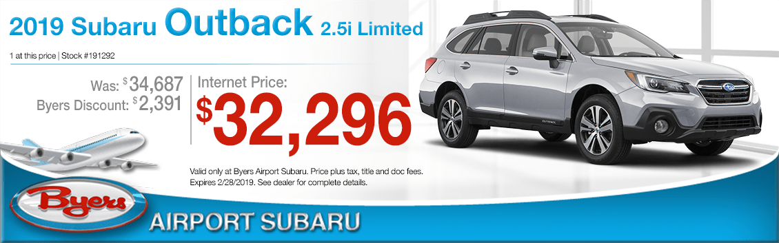 Buy a 2019 Subaru Outback 2.5i Limited for a Special Price in Columbus, OH