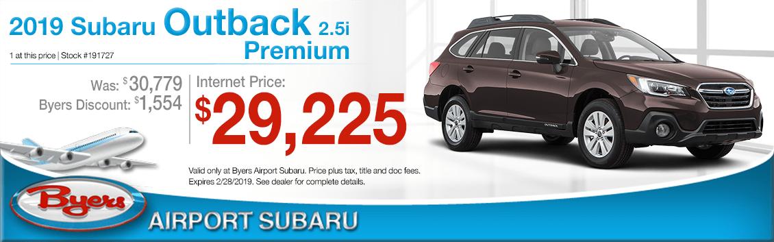 2019 Subaru Outback Premium Sales Special in Columbus, OH