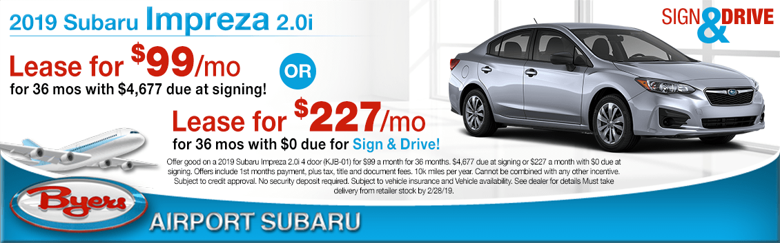 2019 Subaru Impreza 2.0i Lease Special in Columbus, OH
