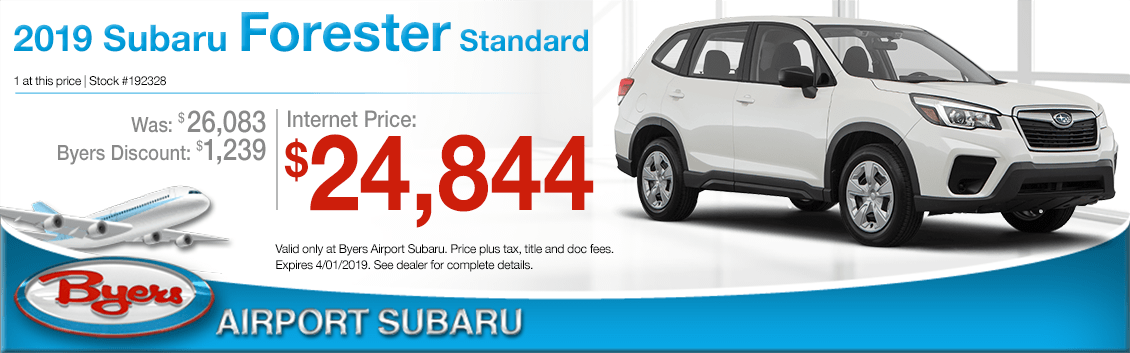 Columbus, Ohio New 2019 Subaru Forester Standard Purchase Special at Byers Airport Subaru