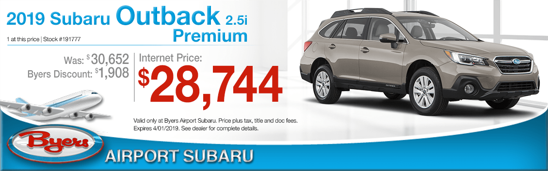 Byers Airport subaru New 2019 Subaru Outback Premium Purchase Offer in Columbus, OH