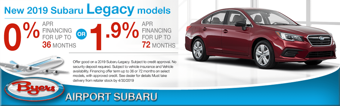2019 Legacy Finance Special at Byers Airport Subaru in Columbus, OH