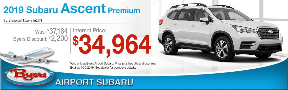 2019 Subaru Ascent Premium Sales Special in Columbus, OH