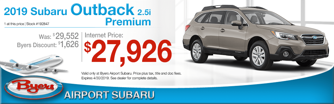2019 Subaru Outback 2.5i Premium Sales Special at Byers Airport Subaru in Columbus, OH