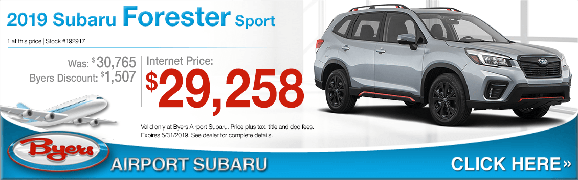 2019 Forester Sport Sales Special at Byers Airport Subaru in Columbus, OH