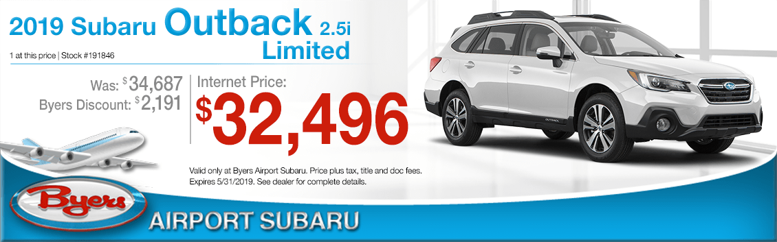 2019 Subaru Outback 2.5i Limited Sales Special in Columbus, OH