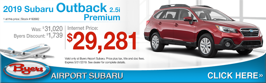 2019 Outback 2.5i Premium Purchase Special at Byers Airport Subaru in Columbus, OH