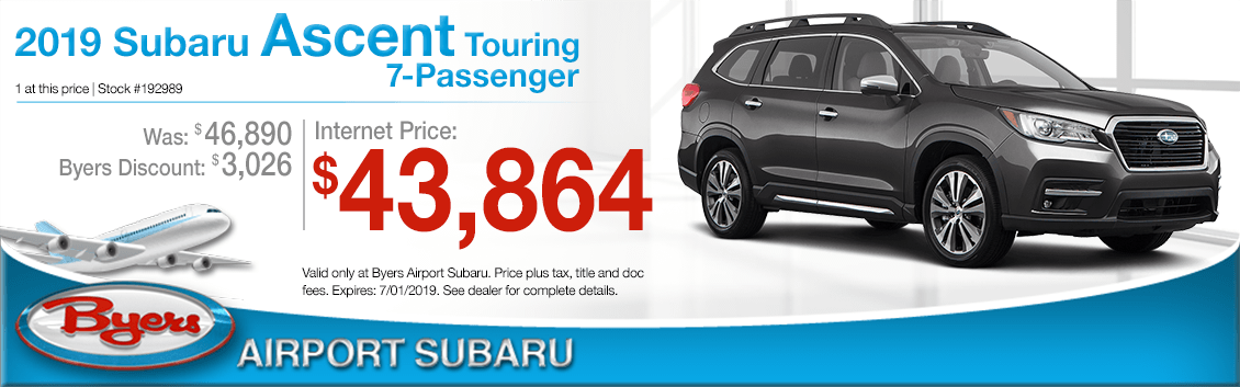 2019 Ascent Touring 7-Passenger Sales Special at Byers Airport Subaru in Columbus, OH