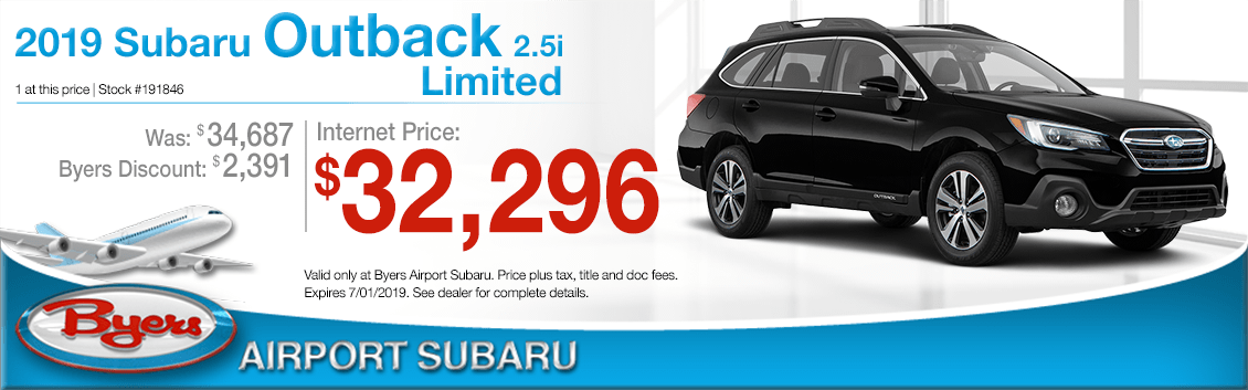 2019 Outback 2.5i Limited Purchase Special at Byers Airport Subaru in Columbus, OH